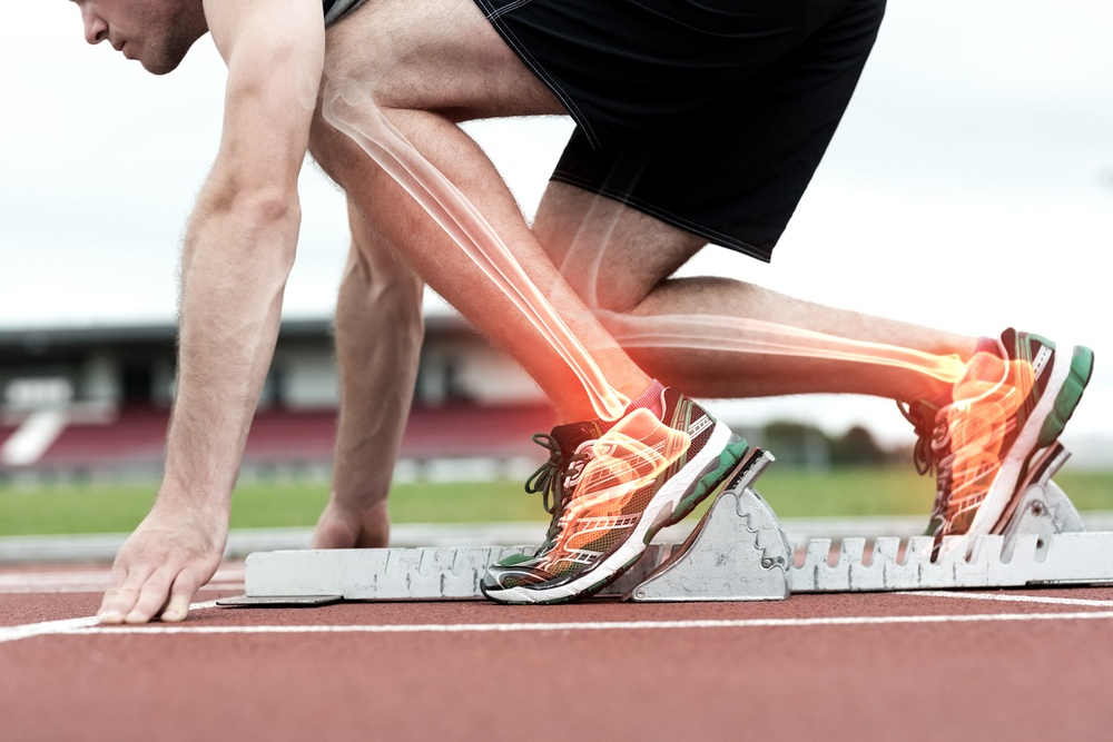 Digital composite of Highlighted bones of man about to race.jpeg
